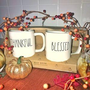 🍂RAE DUNN Thankful and Blessed Mug Set